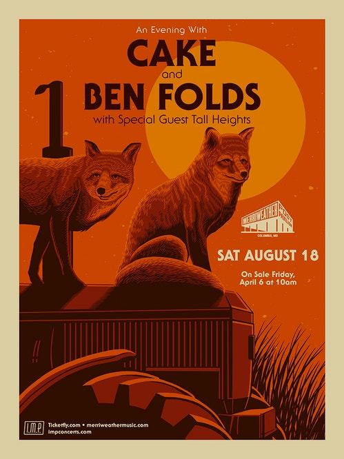 Ben Folds & Cake at Marymoor Amphitheater